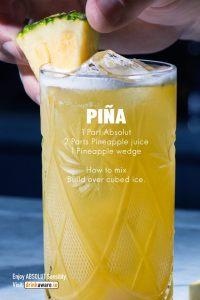 Absolut pina cocktail