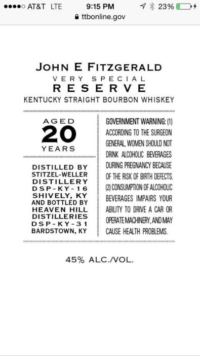 Fitzgerald bourbon
