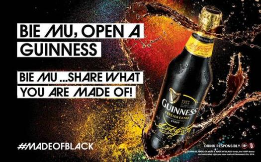 Guiness made of black