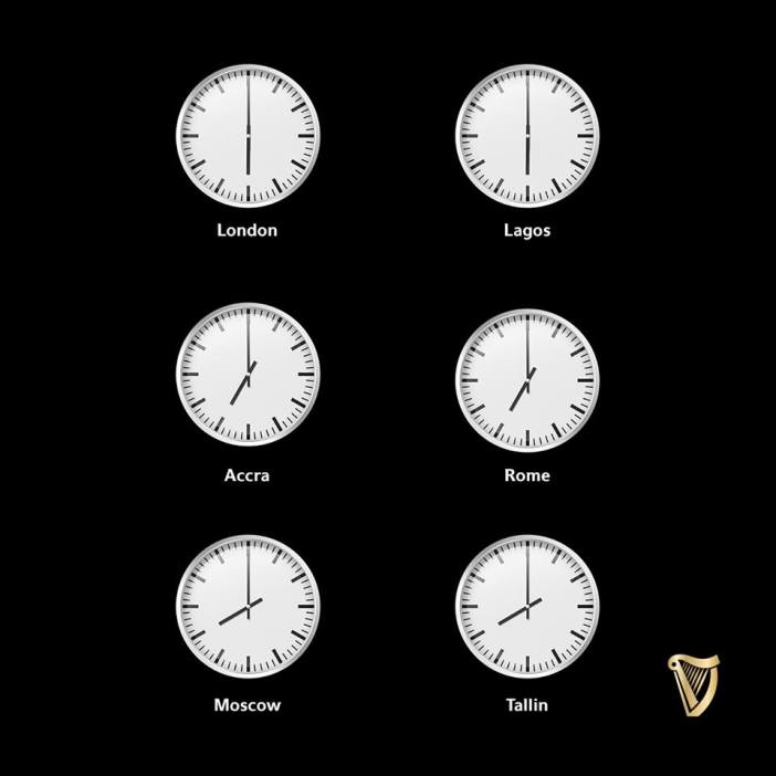 Guinness clock watching
