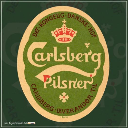 Carlsberg old label