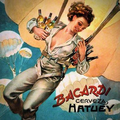 bacardi ire parachute girl