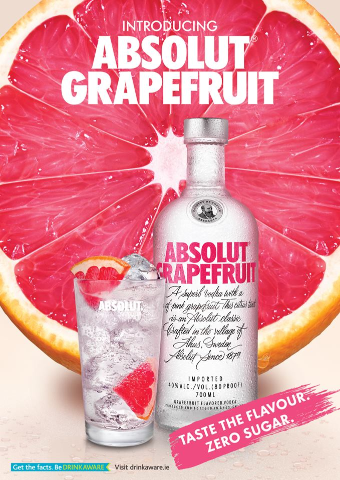 absolut grapefuit zero sugar