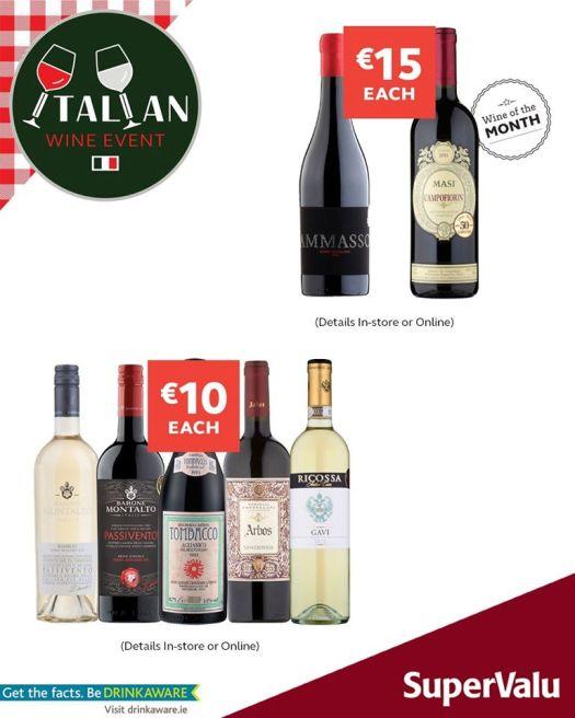 supervalu italian wine