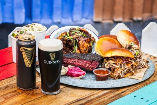 guinness takeaway with bbq box
