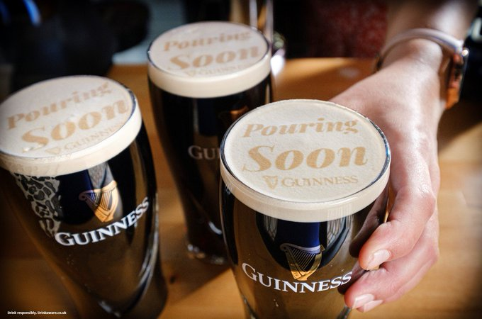guinness pouring soon